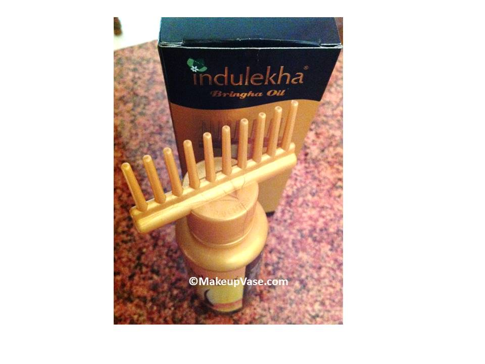 Indulekha Bhringa hair oil review and application